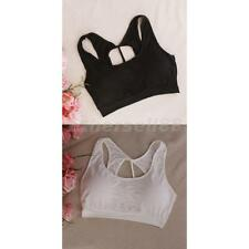 Women Cami Tank Camisole Lace Vest Blouse Bralette Padded Bra Crop Top 1946