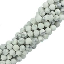 "6mm 8mm White Natural HowliteTurquoise Gemstone Round Beads 15"" Jewelry Making"