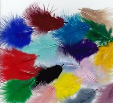 200 FLUFFY MARABOU FEATHERS IN A SELECTION OF COLOURS
