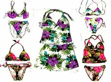 NWT Sunsets Rain Forest Brown & Rain Forest White Swimsuit Separates