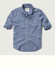 NWT men's ABERCROMBIE & FITCH  A&F Plaid shirts size M, L, XL