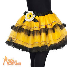 Child Bumble Bee Fairy Tutu Skirt Girls Insect Fancy Dress Accessory New
