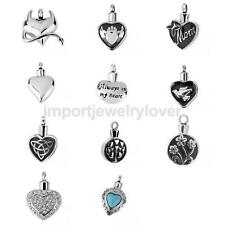 Women Cremation Pedant Necklace Jewelry Ash Holder Keepsake Charm Pendant