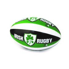 "6"" Rugby Stress Ball With Irish Rugby And Shamrock Crest Design"