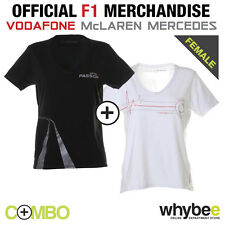 VODAFONE McLAREN MERCEDES LADIES WOMENS F1 PASSION & PULSES T-SHIRT TWIN PACK!