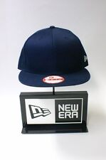 New Era 9FIFTY Plain Navy Blue Colour NE Flag Logo Snapback Hat Baseball Cap