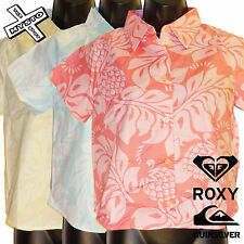 QUIKSILVER ROXY 'LUCKY ONE' SHORT SLEEVE SHIRT HAWAIIAN UK 8 10 14 BNWT RRP £36