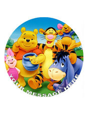"""Winnie the Pooh Personalised Cake Topper 8"""" Circle Wafer/Icing sheet"""