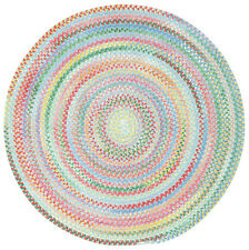 Capel Cotton Chenille Round Braided Rug~Baby's Breath~440~Blue Bell