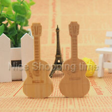 32GB 16GB 8GB 4GB Wood Bamboo Guitar Model USB 2.0 Memory Stick Flash pen Drive