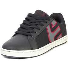 Etnies Fader LS Mens Leather Black Charcoal Skate Trainers New Shoes All Sizes