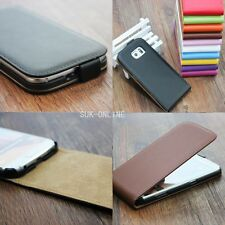 New Genuine Real Leather Magnetic Flip Glossy Case Cover For Samsung Galaxy