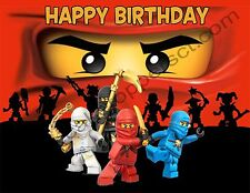 Lego Ninjago Personalized Edible Image Premium Cake Topper Frosting Sheet 5 Size