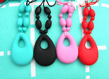 Silicone Teething Necklace for Mum Baby Sensory Jewellery Pendant BPA free