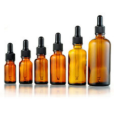 5-50ml Amber Glass Reagent Liquid Pipette Bottle Eye Dropper Drop Aromatherapy B