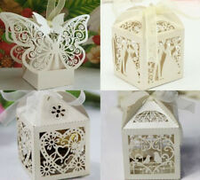 50/100PCS Luxury Wedding Party Sweets Cake Candy Gift Boxes Wedding Favours