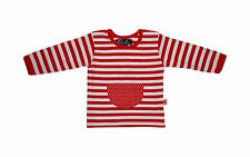 Brand New w Tags Oobi Baby Girls Red White Striped Long Sleeve Top Sizes 00 & 0