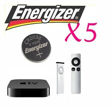 5 NEW Apple TV 2nd & 3rd Gen Remote Batteries - ENERGIZER