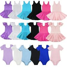 Girl Gymnastics Ballet Dress Kid Leotard Tutu Skirt Dance Ballerina Costume Gown