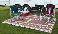 Outdoor Rug Indoor RV Patio Mat Deck Camper Beach Area Picnic Carpet-Many Sizes!