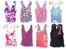 Size XS-XL - NWT$34-$38 Candie's V-Neck Ruffle & Cami Pleated Sleeveless Tops