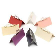 25pcs White Pearlescent Cards Wedding Table Name Place Cards Table Decoration