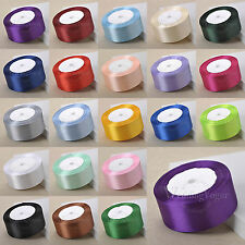 "25yards 38mm 1.5"" Satin Ribbons Bows Wedding Party DIY Craft Venue Decoration"