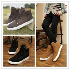 Fashion Men's Tennis Shoes Casual Canvas Lace Up Sport Shoes Sneakers Boots - SS