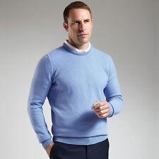 GLENMUIR MORAR MENS CLASSIC LAMBSWOOL CREW NECK GOLF SWEATER [21 COLOURS]