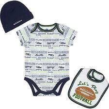 Seattle Seahawks NFL Infant/Baby Team 3-pc Bodysuit,Bib,Cap Set: 3/6m