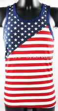 Sleeveless Tank Top The United States Flag Pattern TOMMY DOOYAO Shirt Men's Vest