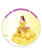 "Princess Belle Personalised Cake Topper 8"" Circle Wafer/Icing sheet"