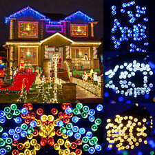 60-200 Led Solar Power Multi-color LED String Fairy Light Xmas Garden Doorway