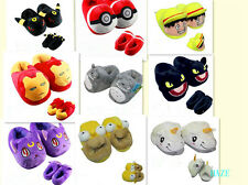anime cartoon Plush Stuffed Slippers Plush Soft Warm Home Slipper New