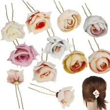 New Wedding Bridal Flower Orchid Hair Clip Hairpin Barrette Hair Accessories