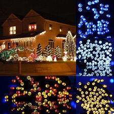 Colorful 30/50 LED Multi Type String Solar Outdoor Garden Xmas Party Fairy Light