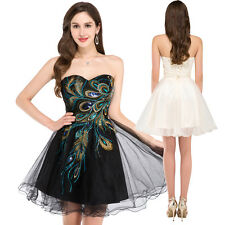 Vintage Short Mini Cocktail Party Gowns Graduation Prom Homecoming Dress