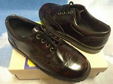 Scott David Burgundy Leather Wingtip Lace Oxford Dress Shoe Toddler Size 11.5,12
