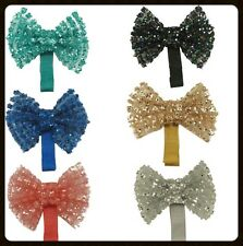 """NEW ARRIVAL Girls 2"""" Sequin Bow Hair Clip BLING PARTY DANCE SPARKLY"""