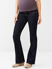 GAP MATERNITY 1969 FULL PANEL SEXY BOOTCUT JEANS  (dark wash)