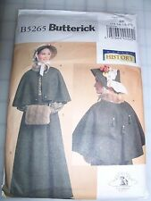 Butterick 5265 Historical Skirt Cape Bonnet Muff Pattern Costume 14 16 18 20