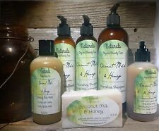 Creamy Coconut Milk & Raw Honey Shampoo & Conditioner/Face Wash/Body Wash Set
