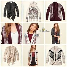 NWT FREESHIP Hollister by Abercrombie Women Spring Beach Cardigan Sweater XS S L