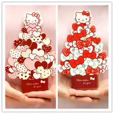 3D Kitty cat greeting card message card happy Birthday Children's day gift