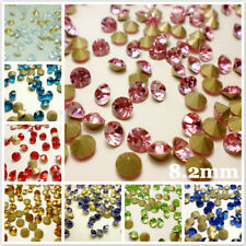 SS39 (8.2mm) Point back Rhinestones Crystal Glass Strass Chatons Stones 144ps CA