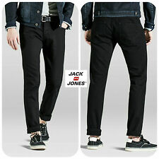 Mens Designer Jack and Jones Denim Jeans Slim Tapered Fit Straight Leg Stylish