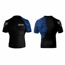 Raven Fightwear Aerial Assault Rash Guard - Short Sleeve - Blue
