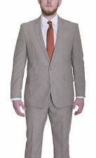 Kenneth Cole Reaction Slim Fit Tan Textured Two Button Suit