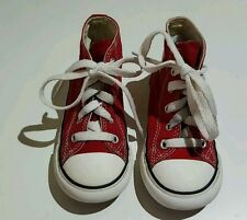 Converse All Star Trainers red  Shoes Kids Size 8