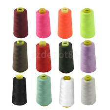 3000YDS POLYESTER OVERLOCKING THREAD INDUSTRIAL SEWING Upholstery CONES 12 COLOR